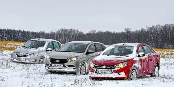 Зимний тест драйв от ЗР: Lada Vesta, Lada Xray и Datsun mi-DO