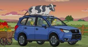 Гомер Симпсон и Subaru Forester