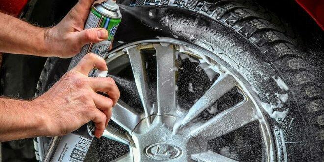 Автохимия для автомобиля: очистители дисков, полироли для шин, чернители резины